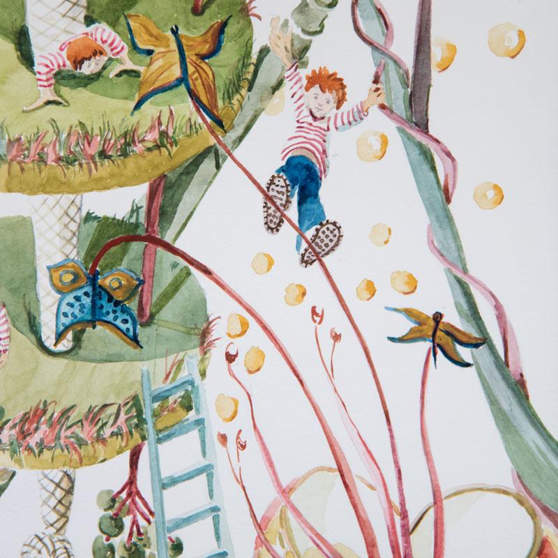 Détail illustration jardin suspendu pour enfant