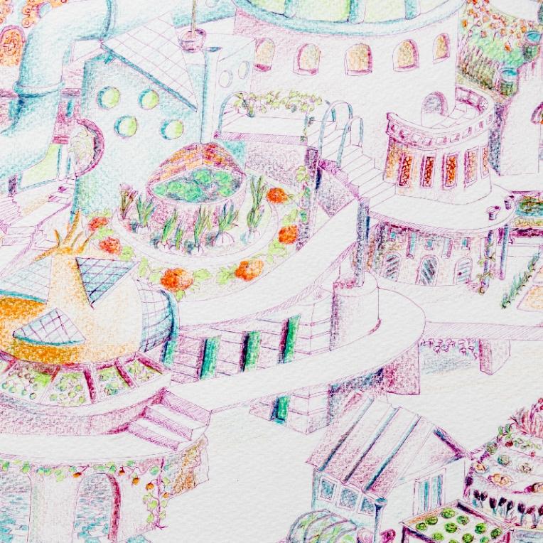 Extrait illustration d'une ville écolo de demain