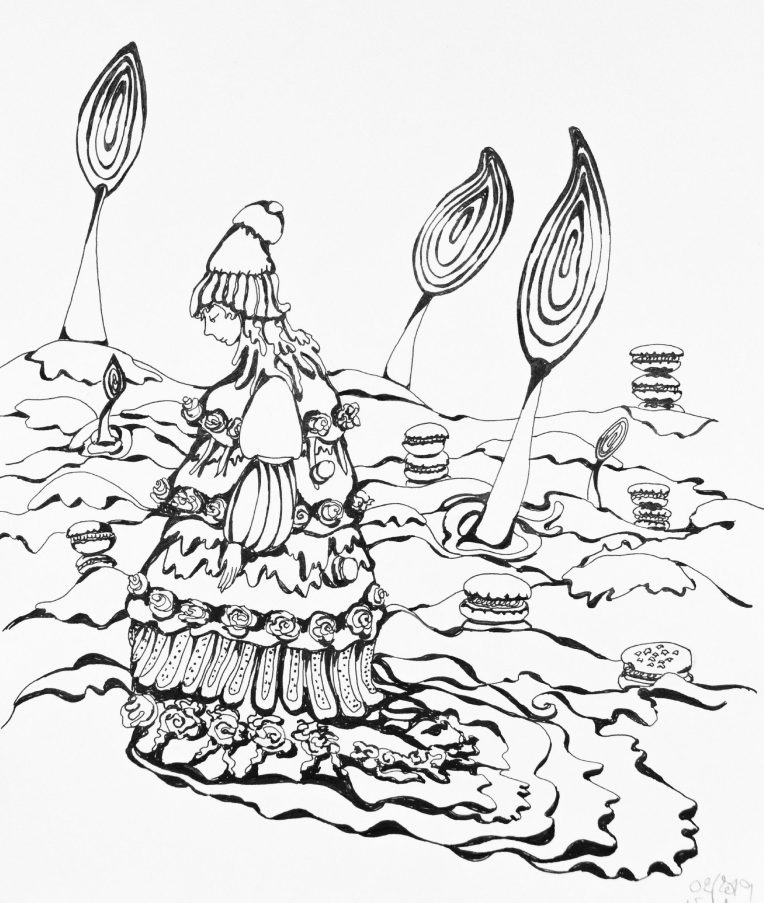 illustration fille au payx des sucettes 1er projet