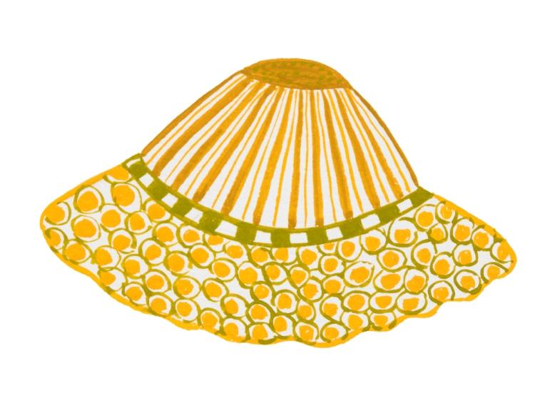 illustration-chapeau enfant -rond-jaune