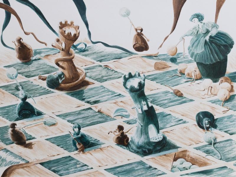 Illustration d'une bataille dans le jeu d'échec