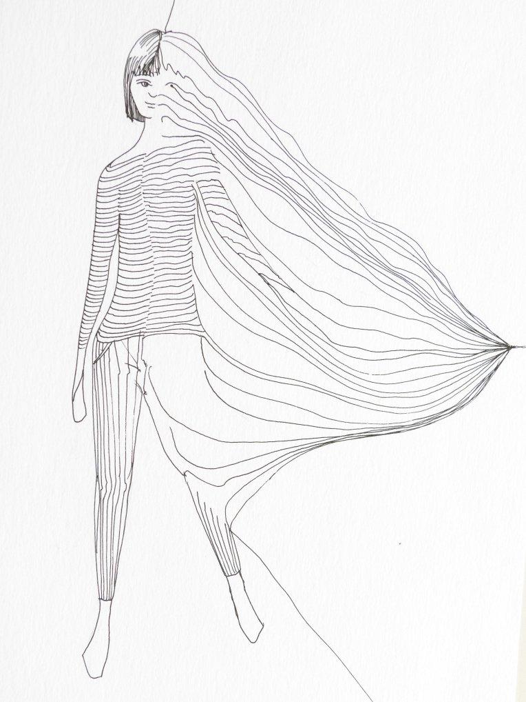 Les fils dans le vent - déformation du corps sous forme de fils