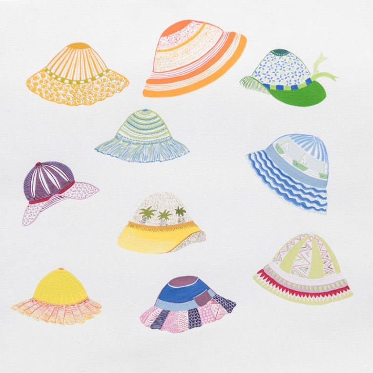 Collection de bobs pour enfants - illustration à la gouache