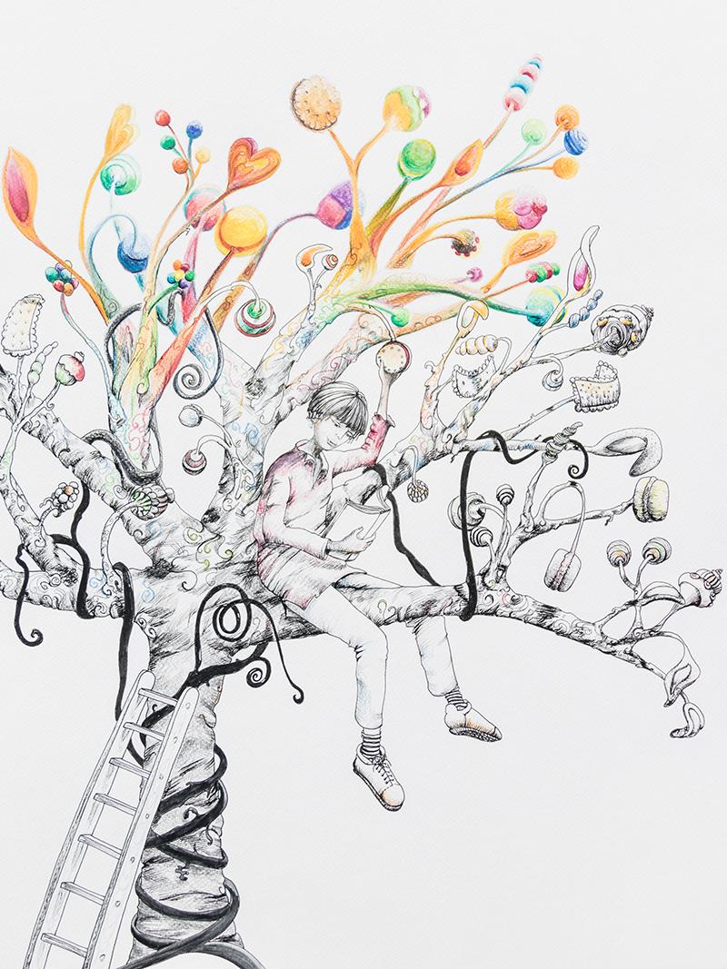 illustration arbre à gâteaux