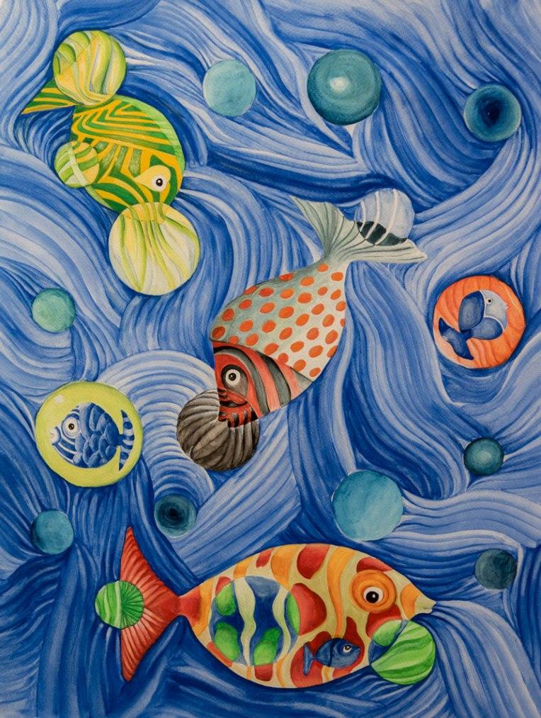 Ondulation sous la mer