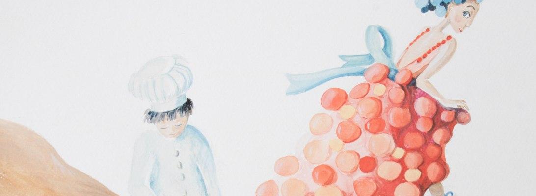 illustration robe faite de choux à la crème