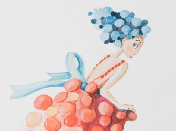 illustration robe gateau - jeune fille