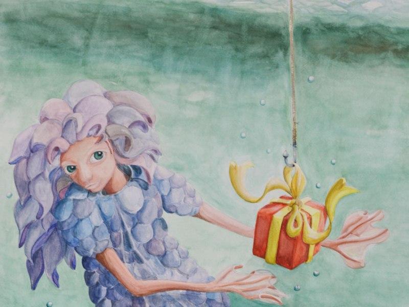 La petite sirène reçoit un cadeau