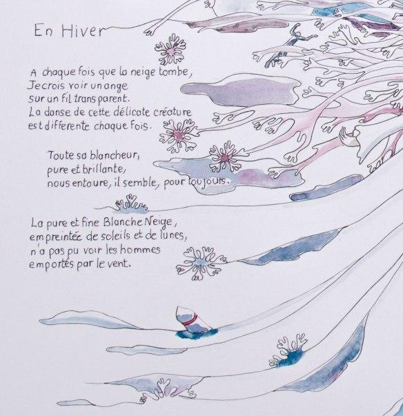 """illustration d'un poème """"EN HIVERS"""" Chloe douglas 2"""
