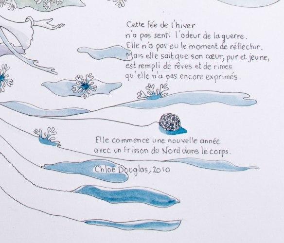 """illustration d'un poème """"EN HIVERS"""" Chloe douglas"""