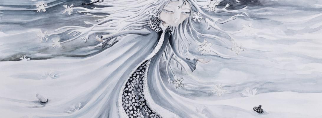 illustration d'un poème En hiver Chloé Douglas