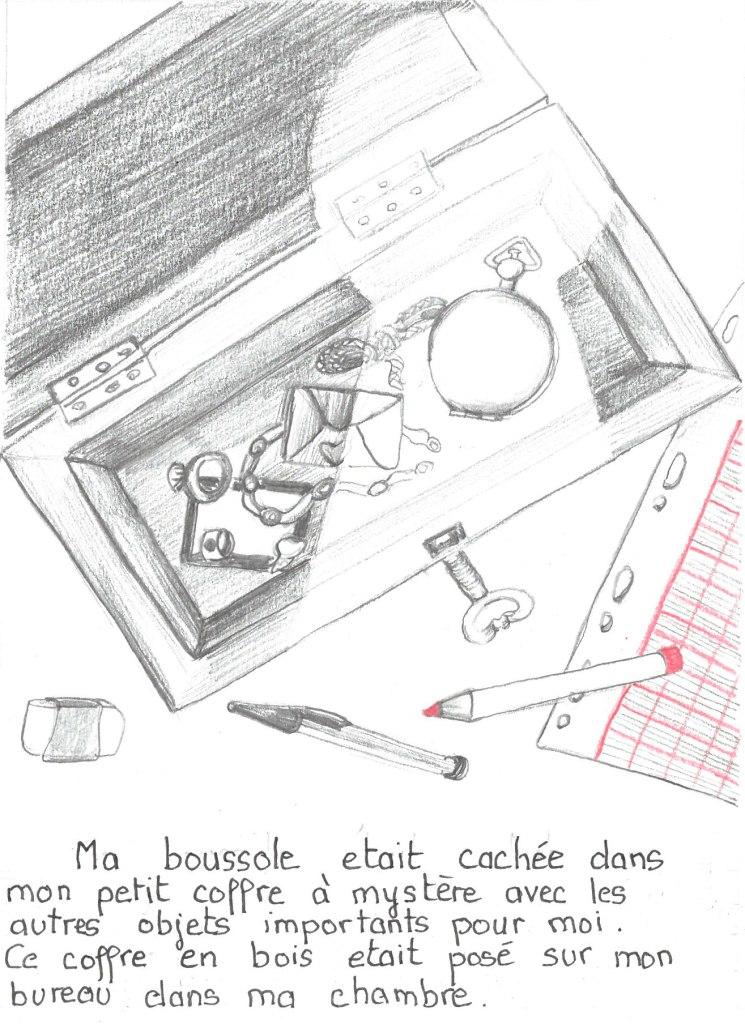 Ma boussole Petite histoire d'un objet personnel au crayon gris et crayon de couleur